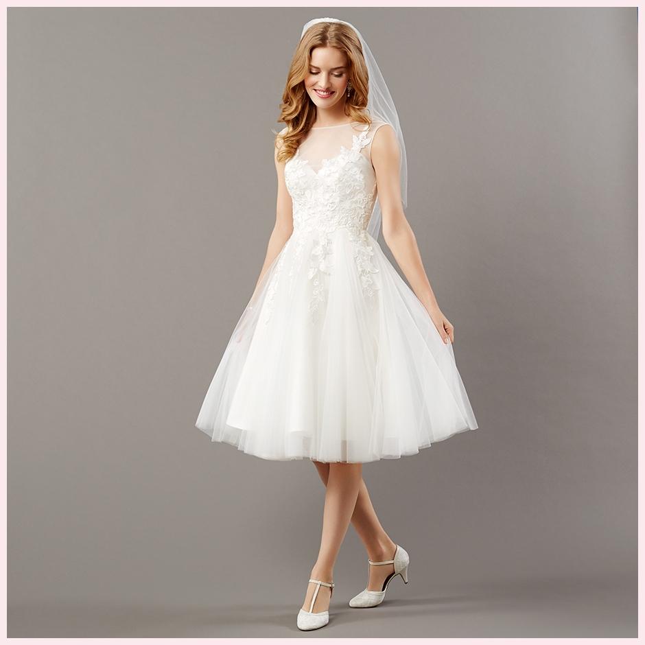 36e054118f3c Kort eller lang brudekjole - hvad skal du vælge
