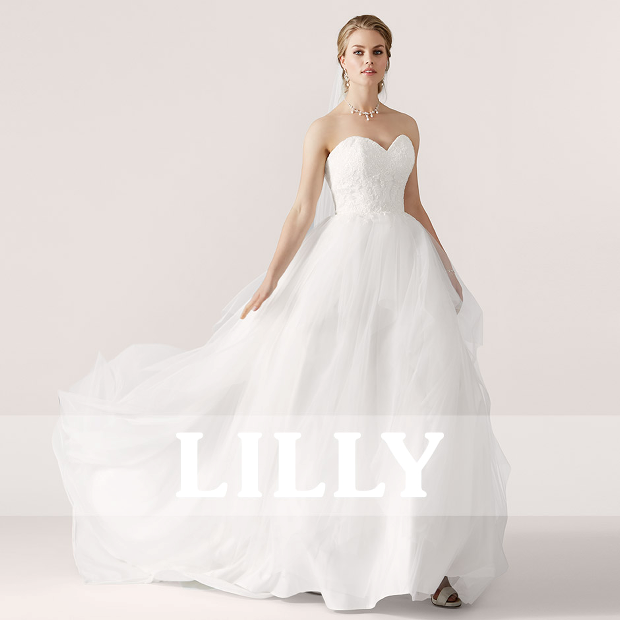 3769dff80219 The  LILLY  collection offers stunning styles with a strong focus on  romantic laces and soft tulle skirting »