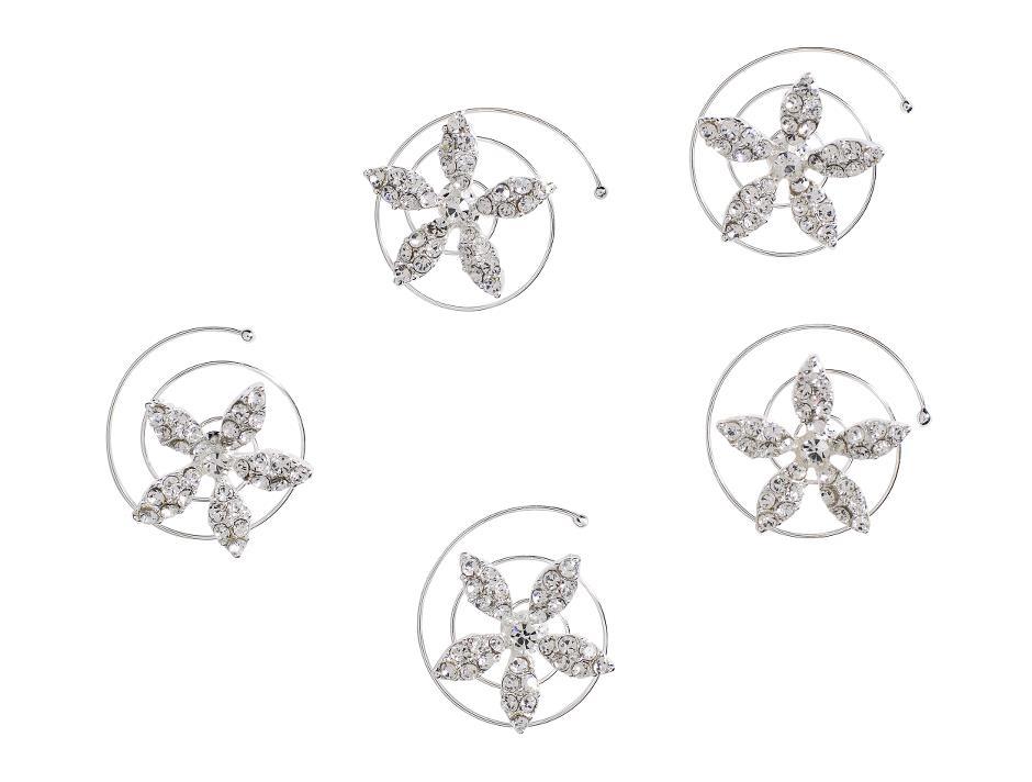 Blomster formede curlies