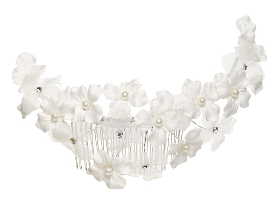 Comb wiht Ivory flowers