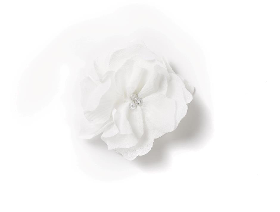 Hvid velcro blomst (6 cm)