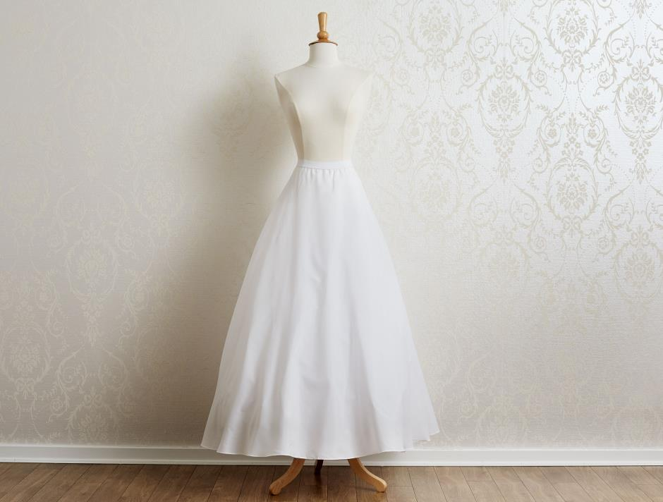 A-line petticoat with lining (white)