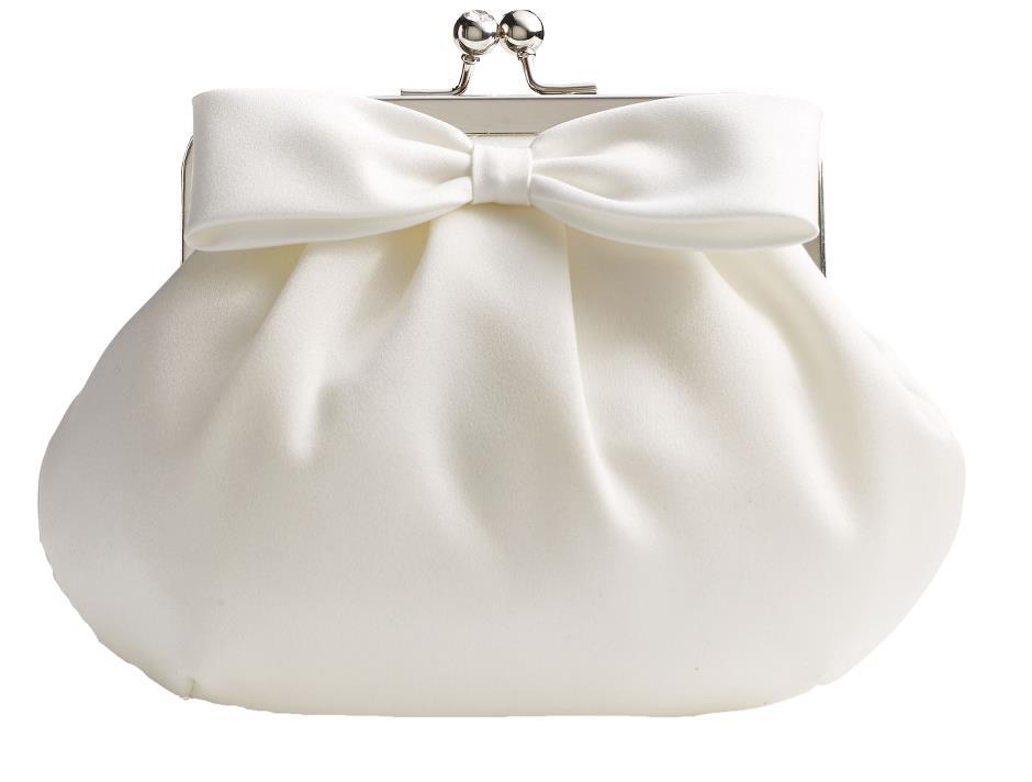 Bridal purse with bow (cream)