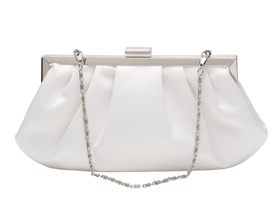 Satin handbag in vintage-look (Cream)