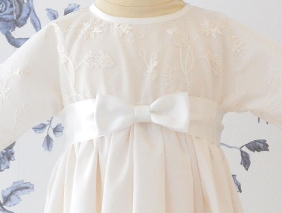 Satin bow (White)