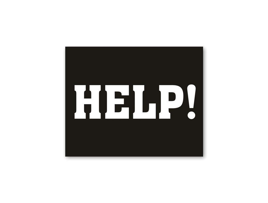 Shoe sticker: HELP!