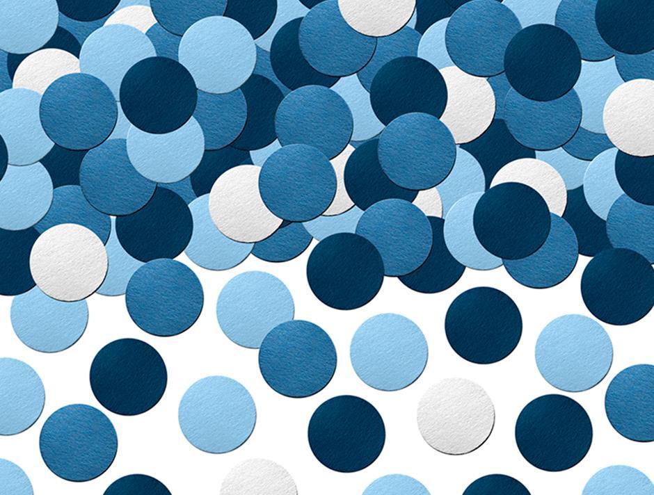 Blå konfetti pynt (5 gr.)