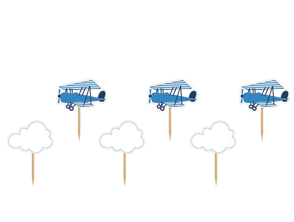 Cupcake toppers: Little Plane & Clouds