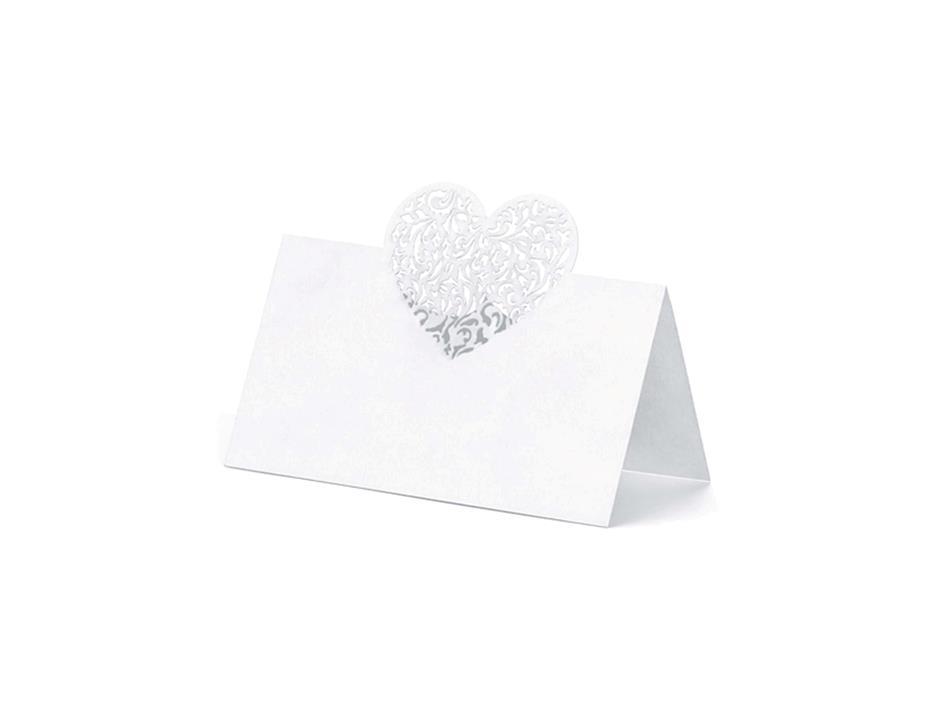 Bordkort m/hjerte (10 stk.)