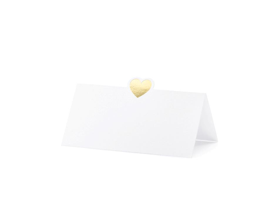 Bordkort med hjerte (10 stk.)