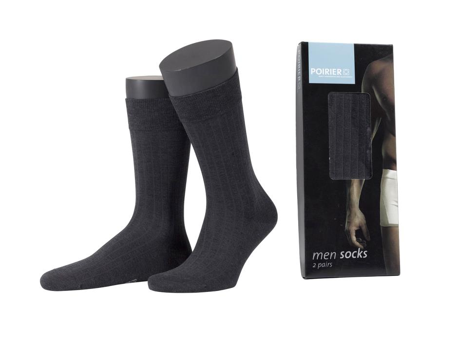 Poirier Mens sock - dark grey (2-pack)