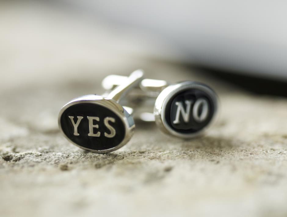 YES/NO manchetknapper