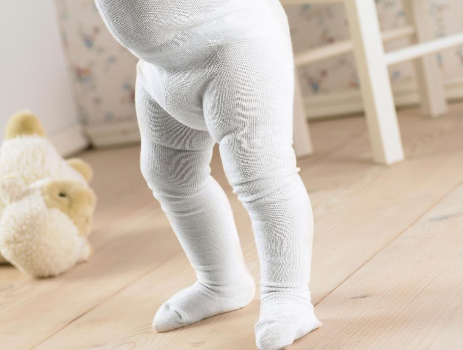 Hvid baby strømpebuks