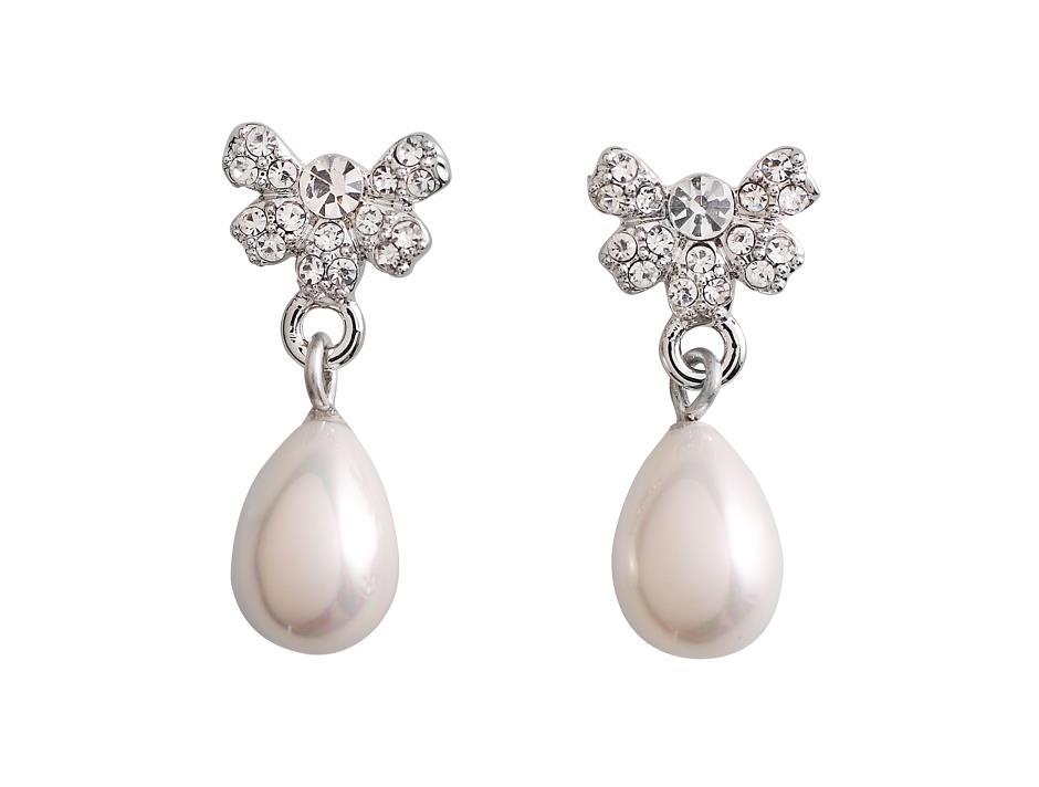 Øreringe med enkel perle