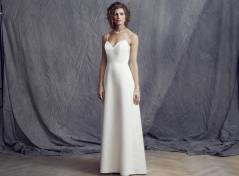 Cream satäng klänning