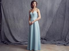 Satin dress (Light blue)