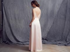 Rosa satäng klänning