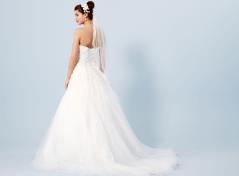 Tüllspitzen-Brautkleid