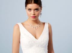 Empire Brautkleid mit Spitze