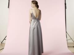 Satin Dress (grey)