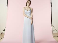 Satin Dress (light grey)