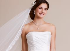 Elegant satin weddingdress