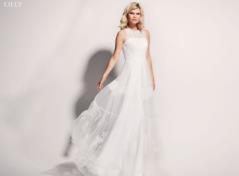Schwungvolles Brautkleid