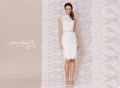Silhuetted lace dress