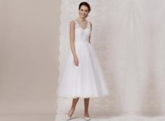 50's Tüll und Spitze Brautkleid