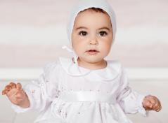 Dopklänning & Hätta (vit)