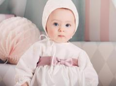 Christening gown & bonnet (cream)