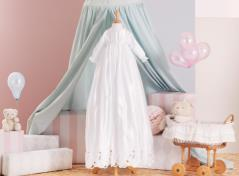 Christening gown & bonnet (white)