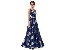 Elegant darkblue eveninggown