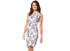 Dress in floral-print