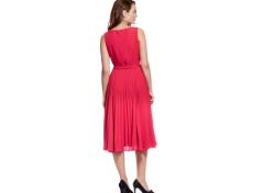 Tie-waist pleated dress