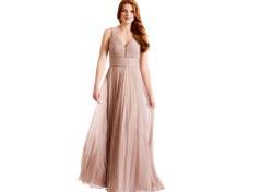 Plisseret maxi kjole