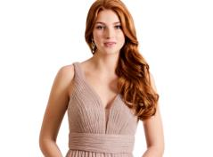Glitter plissée maxi dress