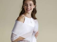 Organdy wrap (white)