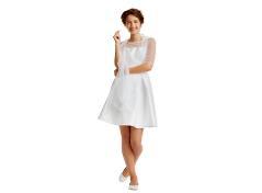 White tulle wrap