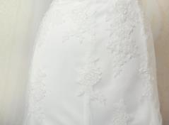 Silhuett kjol med spets