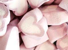 Hjerte skumfiduser (1 kg)