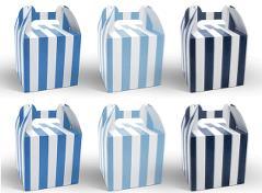 Stribede æsker (blå/hvide)