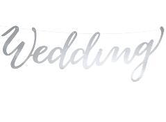 Sølvfarvet banner Wedding