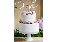 Cake topper i sølv (1 stk.)