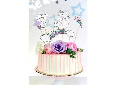 Unicorn cake toppers (5 stk.)