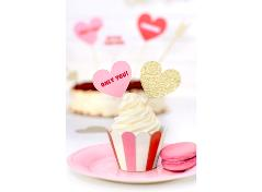 Heart Cupcake Toppers (6 pcs.)