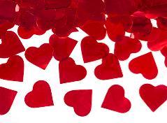 Konfettirør med hjerter (1 stk.)