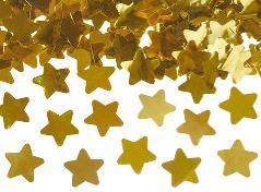 Konfettirør med guld stjerner