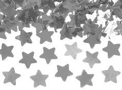 Konfettirør med sølv stjerner