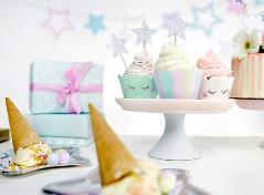 Unicorn cupcake wrappers (6 stk.)